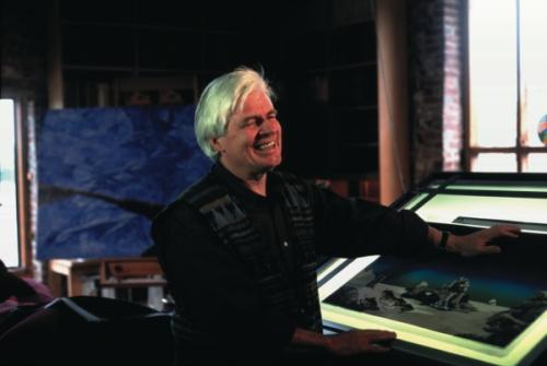 Roger Dean em seu estúdio