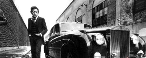 Gainsbarre (Serge Gainsbourg) e seu Rolls Royce