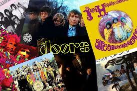 Alguns dos álbuns lançados em 1967