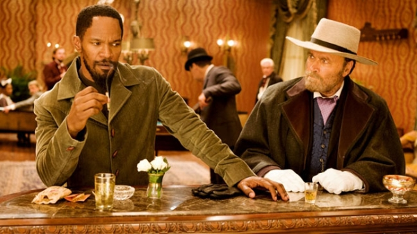 """""""Django Livre"""": Jamie Foxx e Franco Nero (o primeiro Django)"""