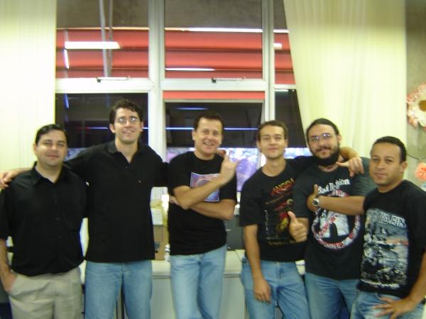 Fábio Finotti, Fábio Lara, Paulo, Alan, Denny e Messias