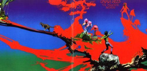"""The Magician's Birthday"" com a capa clássica desenhada por Roger Dean"