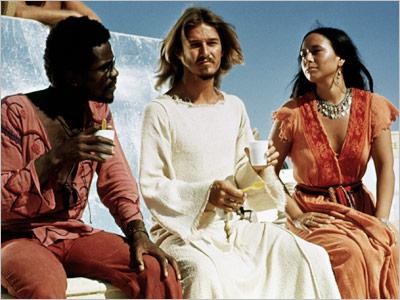 Carl Anderson (Judas), Ted Neeley (Jesus) e Yvonne Elliman (Madalena) no filme de 1973