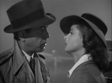 "Humphrey Bogart e Ingrid Bergman em ""Casablanca"""