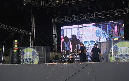 Passagem de som do Megadeth