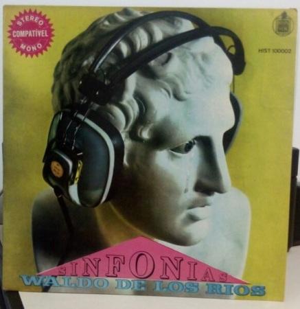 """Capa da edição nacional do álbum """"Sinfonias"""" de Waldo de los Rios."""
